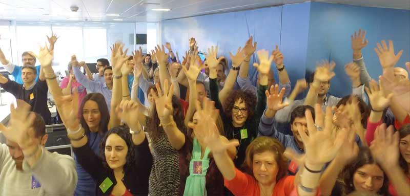 Actividad del lipdub para empresas en Barcelona